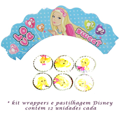 Kit Decorao Cupcakes Disney - Tema Barbie