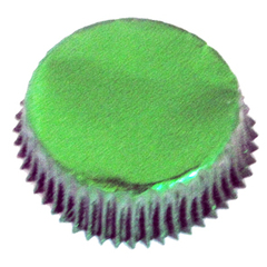 Forminha para Cupcake Verde Metalizada